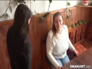 Granny Fucks Hard With Sexy Couple