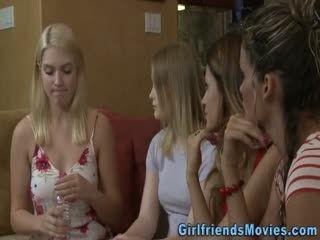 Blonde Lesbian Fingered