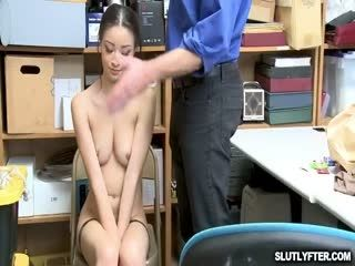 Scarlett Riding The LP Officers Cock