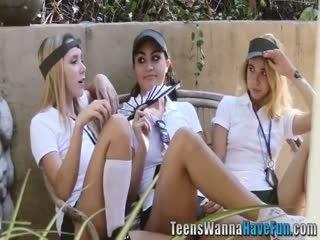 Lesbian Teenagers Eat