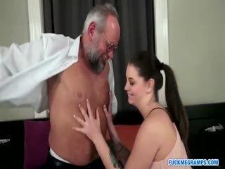 Horny Grandpa Loves Hardcore Sex With Sexy Babe