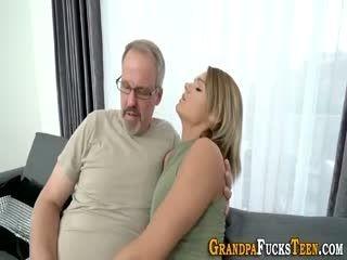 Teen Sucks Grandpas Cock