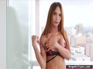 Busty TS Latina Masturbates Til She Cums
