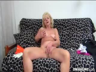 Granny With Blonde Hair Enjoys Hardcore Sex