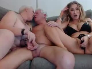 Grandma And Grandpa Threesome With Niece