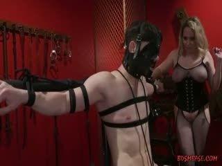 Busty Blonde Domina Gives Her Slave A Hj