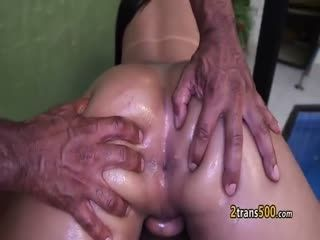 Black Guy Fucks Shemale Bbw