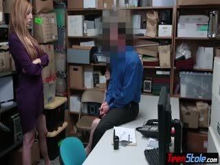 Busty Redhead Thieves Got Caught And Punish Fucked