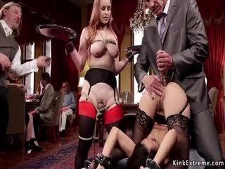 Tied Up Wrists Slut Anal Toyed At Orgy