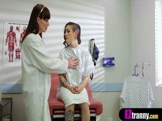 Skinny Tranny Gynecologist Fucks Naive Teen Patient