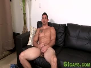 Muscly Soldier Tugging