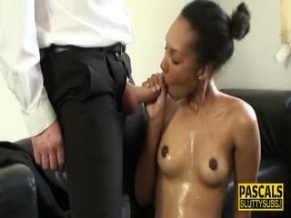 Real Squirting Ebony Sub
