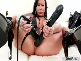 Busty Lily Lanes Double Penetration