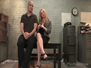 Blonde Babe With Big Tits Enjoys BDSM Sex