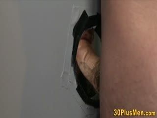 Stud Rides Gloryhole Cock And Gives Head