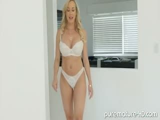 Voluptuous Blonde Cougar Fucked Hard
