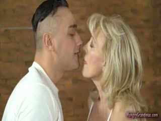 Hot Blonde Gramma Gets Fucked By Boy Stud