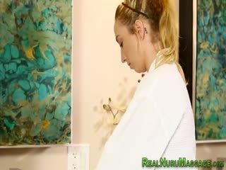 Nuru Masseuse Gets Facial