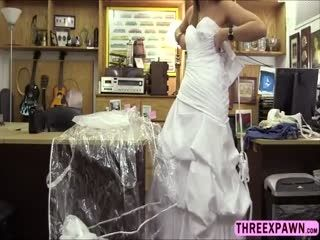 Pretty Bride Hot Sex In The Pawn Office