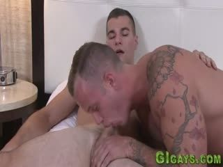Horny Soldier Gets Fucked
