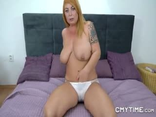 Bigtitted Blonde Gets Her Old Cunt Fucked