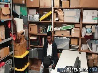 Black Teenage Shoplifter Jizzed