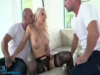 Blonde Babe With Big Tits Loves Hardcore DP