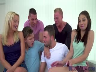 Bi Dudes Orgy Fucking And Cumming