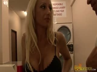 Tall And Busty Babe Enjoys This Guy