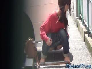 Fetish Asian Slut Peeing In Street
