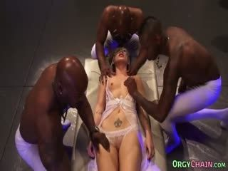Orgy Hungry Bitch Fucked