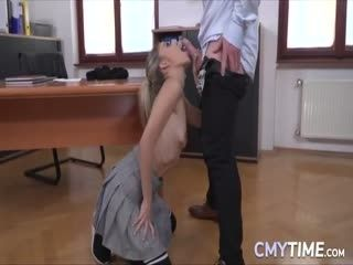 Astonishing Blonde Doll Gets Her Teen Pussy Fucked