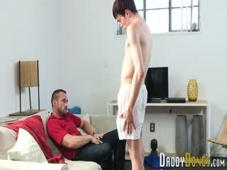 Throating Twink Stepson Gets Creampied