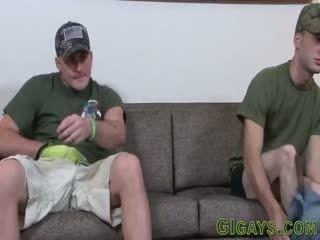 Soldier Sucks Big Cock And Gets Fucked