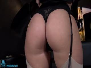 Adorable Brunette Gets Her Asshole Ravished