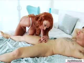 Redhead Shemale Barebacks Guys Tight Ass