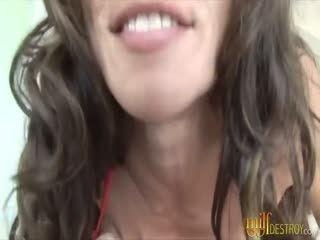 Busty MILF Gives Extreme Deepthroat Blowjob