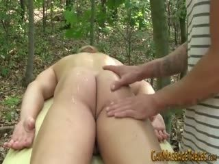 Twink Masseur Outdoors Cums On Ass