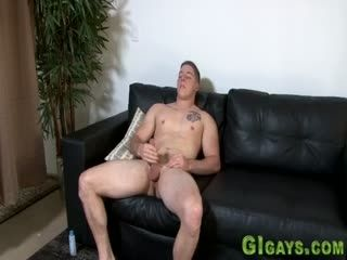 Military Stud Stroking His Dick Solo