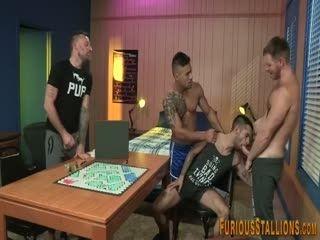Horny Hunks Group Fucking