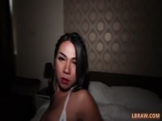 Ladyboy Tata Gives Oral And Anal Bareback Sex