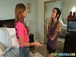 Pussy Licking Tattooed Lesbian Stepsis