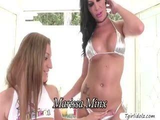 Busty Tgirl Marissa Pounds Mokas Pussy