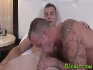 Soldier Gets Railed And Sucks Dick