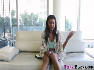 Doggystyle Fucked Black Teen Gets Spermed