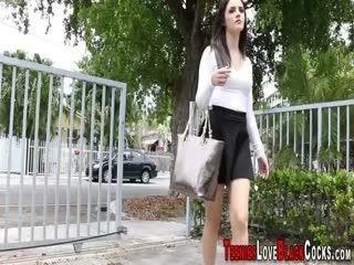 Teen Sucks Ebony Dick And Gets Facial