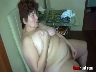 Granny Eaten Out By A Teenie In FFM Threesome