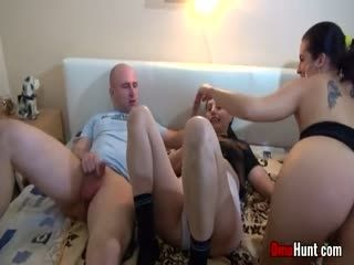 Granny Takes Her Share Of Cock In This Hot Threesome
