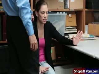 Brunette Offender Fucked By LP Security