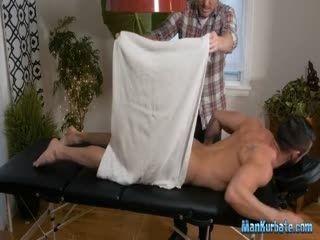Straight Gets Massage And Handjob